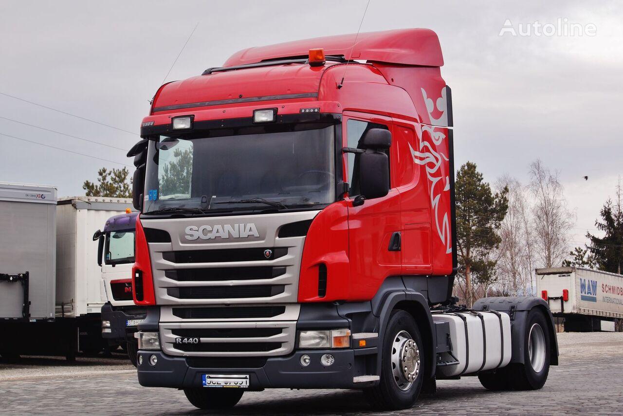 ciągnik siodłowy SCANIA R440 EURO 5 ADBLUE PDE MANUAL RETARDER STANDARD 2013