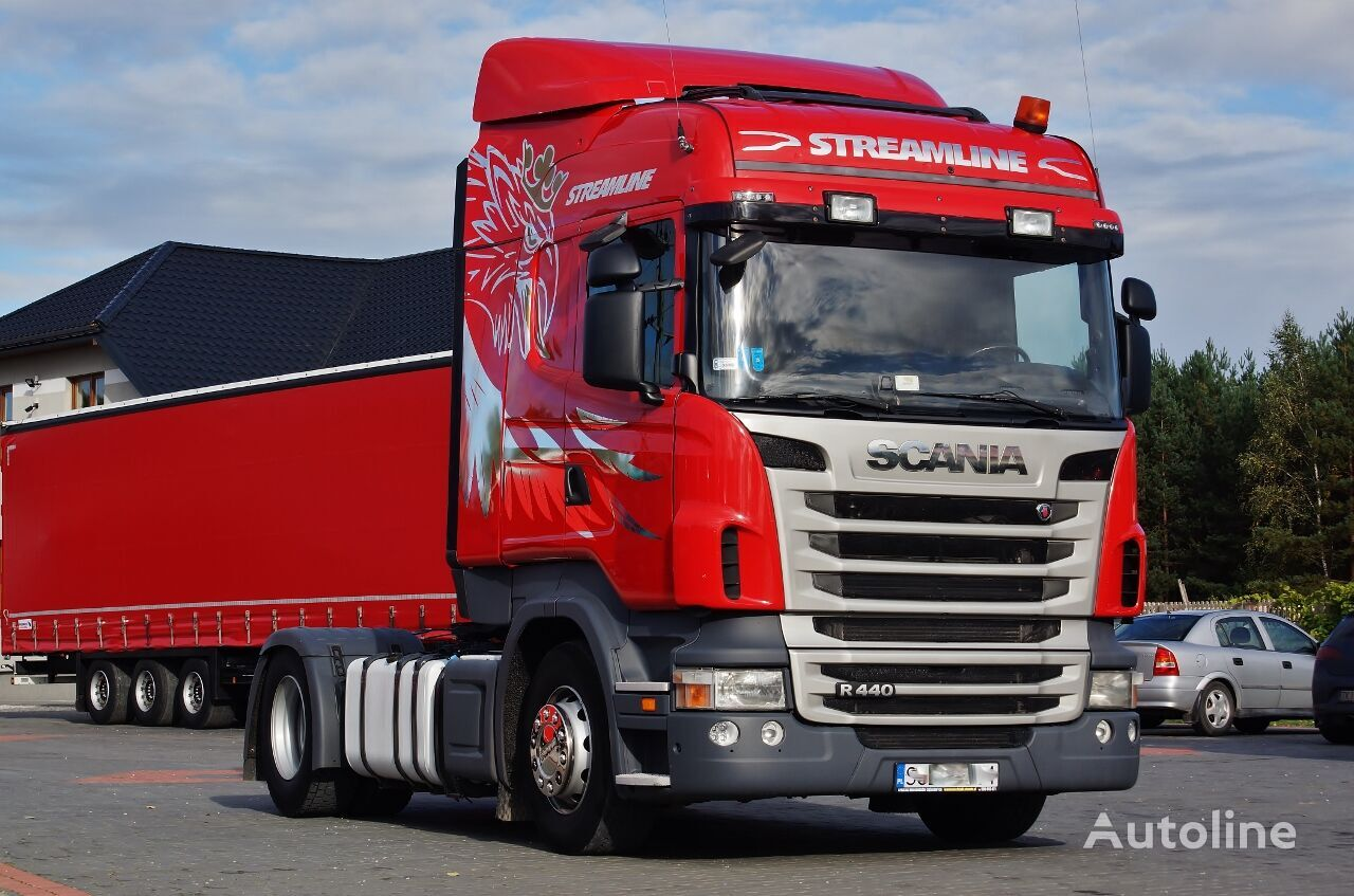 ciągnik siodłowy SCANIA R440 EURO 5 PDE ADBLUE / RETARDER / MANUAL / 2013