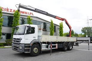 ciężarówka burtowa MERCEDES-BENZ Axor 2633 , EEV , 6X4 , BOX 7,5m , FASSI 10m / 6.000kg , REMOTE
