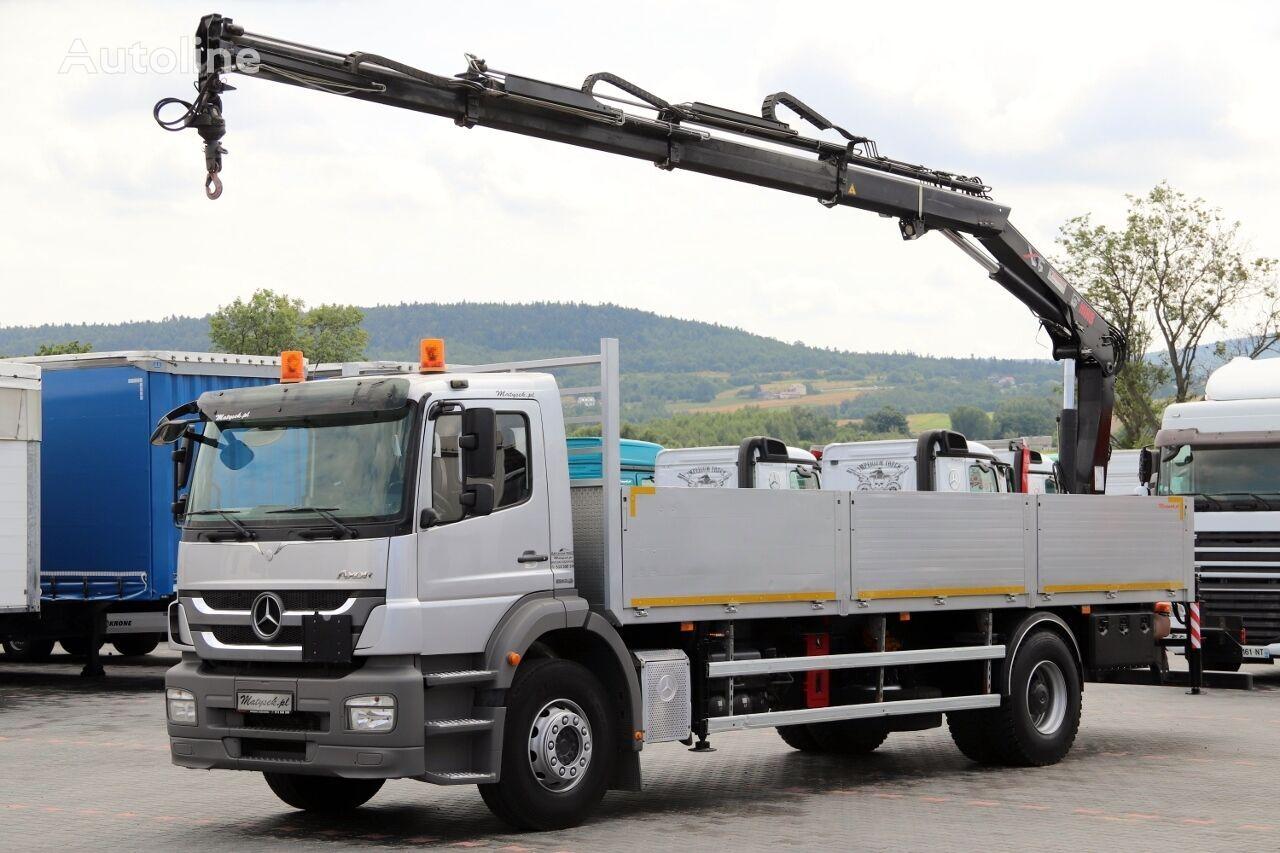 ciężarówka burtowa MERCEDES-BENZ AXOR 1829 / 4X2 / MACARA HIAB 144 / RADIO CONTROL / MANUAL / EUR