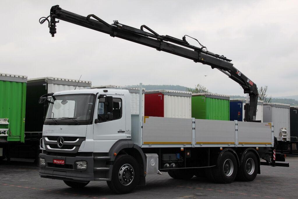 ciężarówka burtowa MERCEDES-BENZ AXOR 2633 / 6X4 / MACARA HIAB 166 / RADIO CONTROL / ROTATOR /