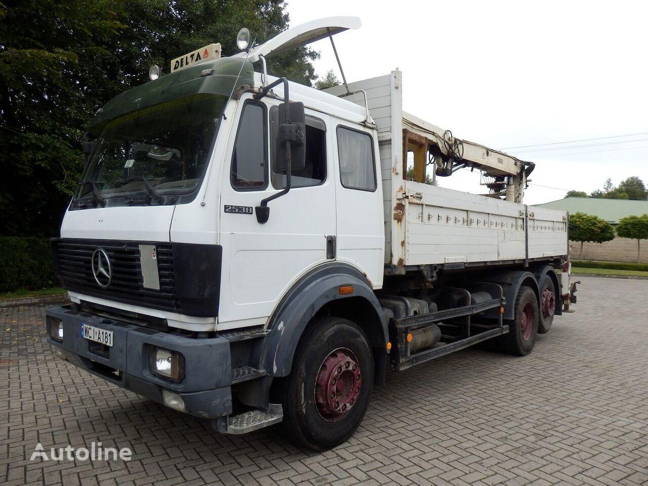 ciężarówka burtowa MERCEDES-BENZ SK 2538 6x2 Engine V8 13.t Axles