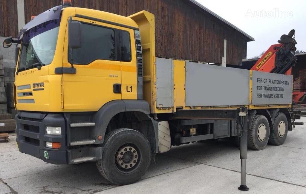 ciężarówka burtowa STEYR 33S41 Man Palfinger PK 44002