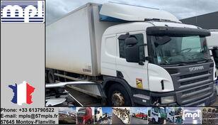 uszkodzona ciężarówka chłodnia SCANIA P340