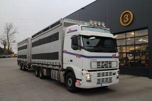 ciężarówka do przewozu bydła VOLVO FH12.480 CHICKEN TRANSPORTER + przyczepa do przewozu zwierząt
