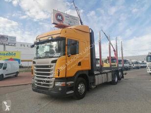 ciężarówka do przewozu drewna SCANIA 420