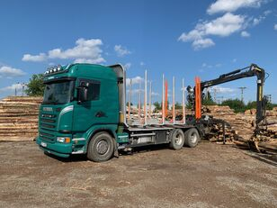 ciężarówka do przewozu drewna SCANIA G480 KRAN KESLA 2009SI