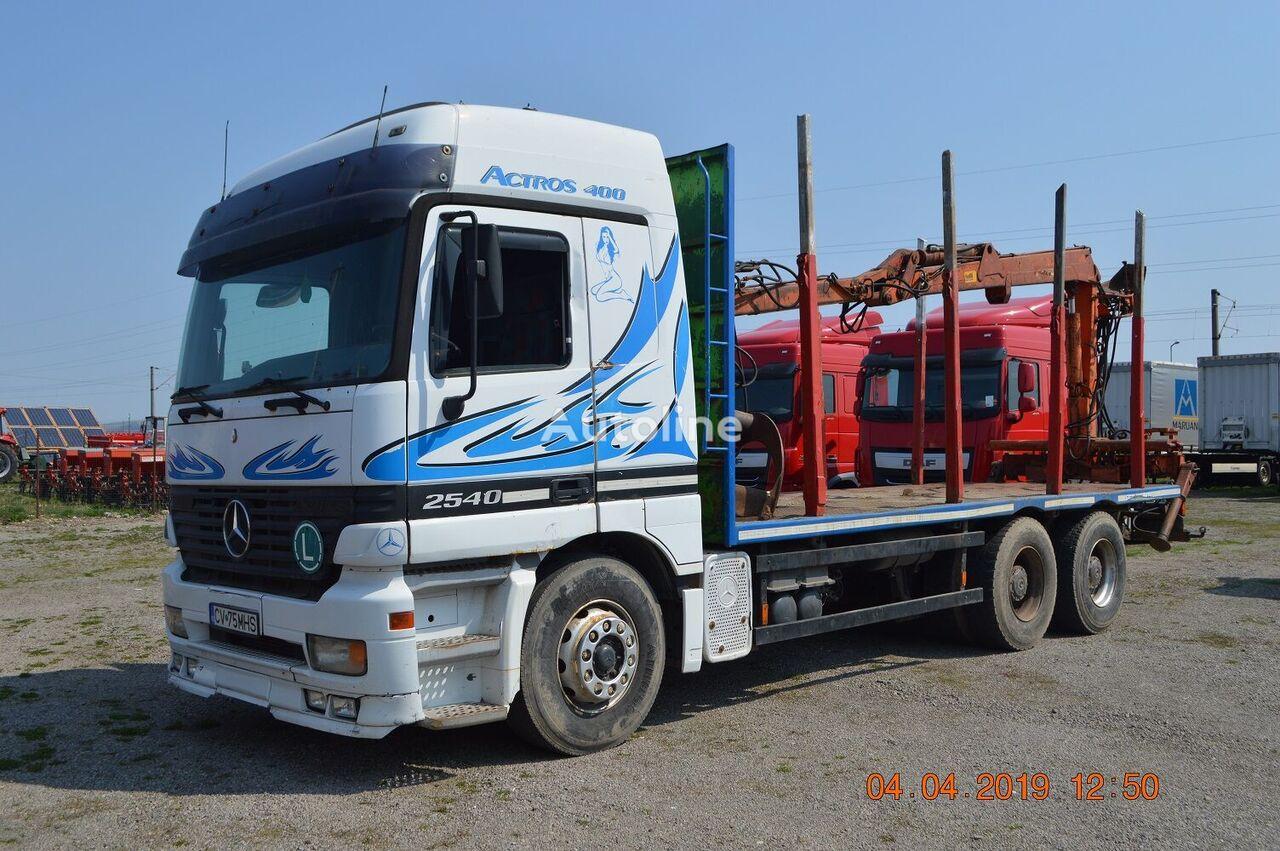 ciężarówka do przewozu drewna MERCEDES-BENZ ACTROS 2540