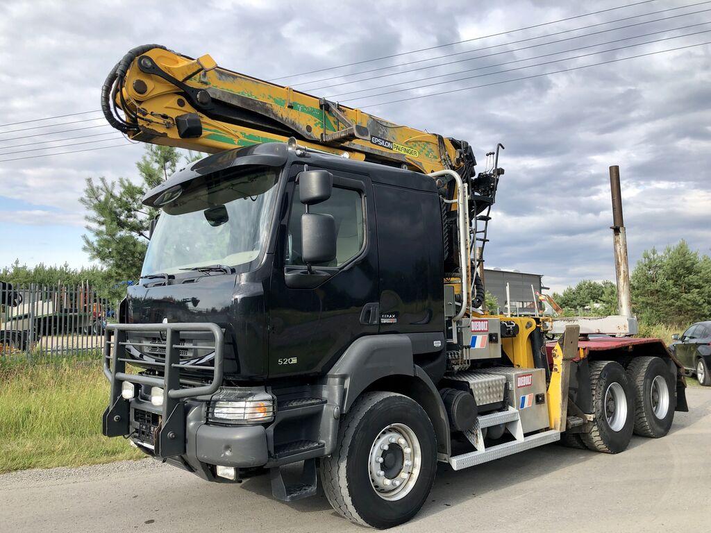 ciężarówka do przewozu drewna RENAULT Kerax DXi 520KM
