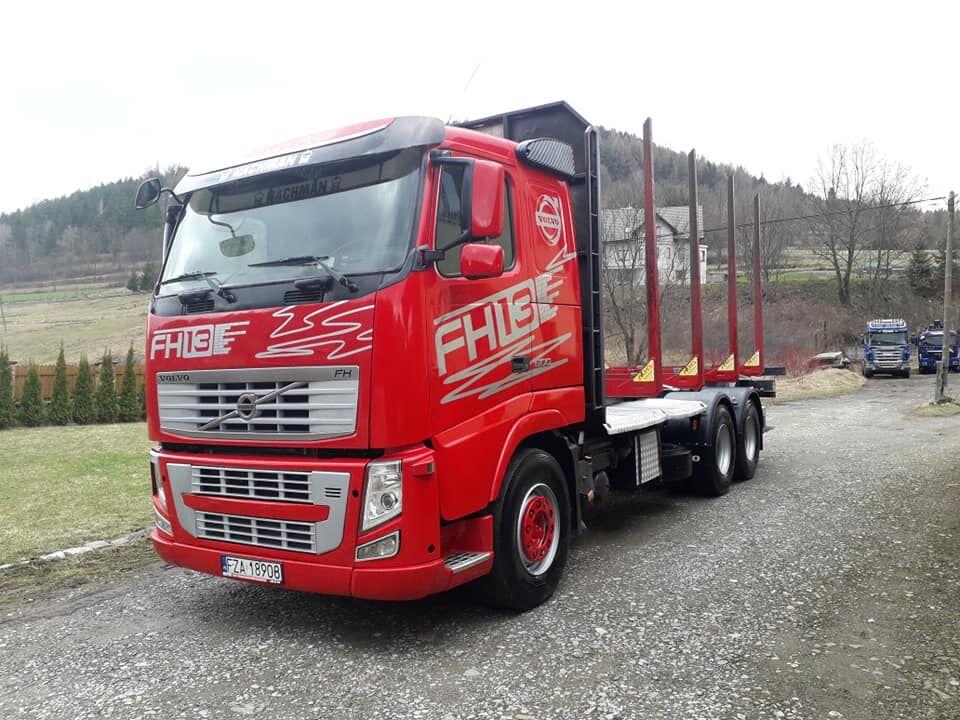 ciężarówka do przewozu drewna VOLVO FH13 500ps Euro5 6x4