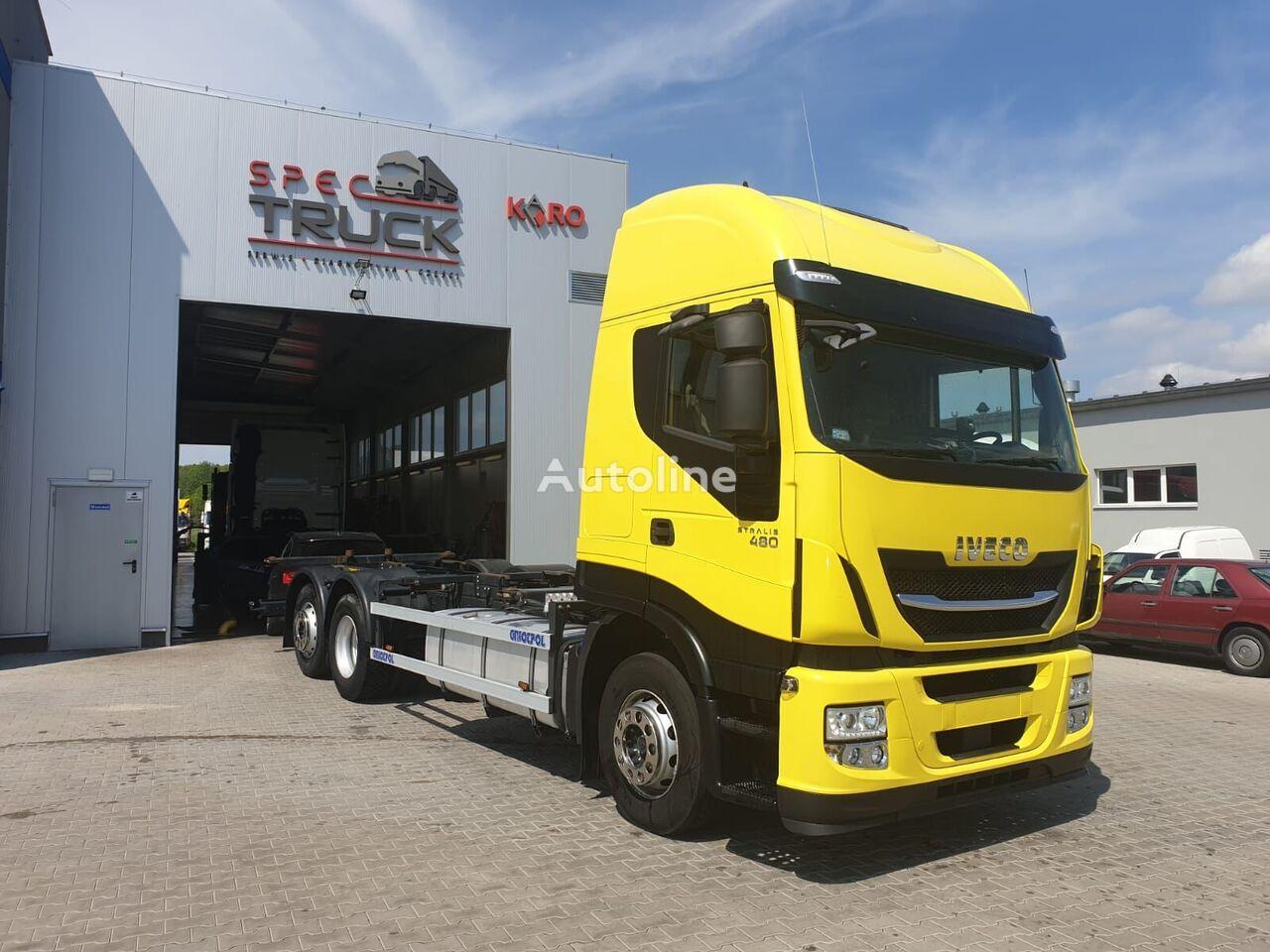 ciężarówka do przewozu kontenerów IVECO Stralis 480, AUTOMAT, CURSOR 11 German Truck, Very clean