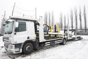 ciężarówka do przewozu samochodów DAF CF 75 360 , E5 , 4x2 ,MEGA , LOHR , retarder , sleep cab + przyczepa do przewozu samochodów