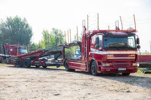 ciężarówka do przewozu samochodów DAF Trailer FA CF75 + przyczepa do przewozu samochodów