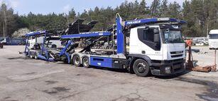 ciężarówka do przewozu samochodów IVECO + przyczepa do przewozu samochodów