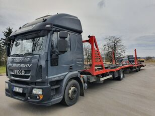 ciężarówka do przewozu samochodów IVECO Eurocargo 140E28 + przyczepa do przewozu samochodów