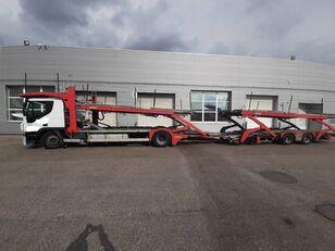 ciężarówka do przewozu samochodów IVECO Stralis + przyczepa do przewozu samochodów