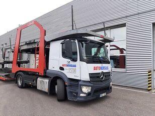 ciężarówka do przewozu samochodów MERCEDES-BENZ ACTROS + przyczepa do przewozu samochodów