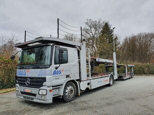 ciężarówka do przewozu samochodów MERCEDES-BENZ Actros 1844 Austausch Motor ca 500000 + przyczepa do przewozu samochodów