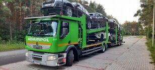 ciężarówka do przewozu samochodów RENAULT Premium 410 + przyczepa do przewozu samochodów