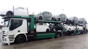 ciężarówka do przewozu samochodów IVECO STRALIS 450 + przyczepa do przewozu samochodów