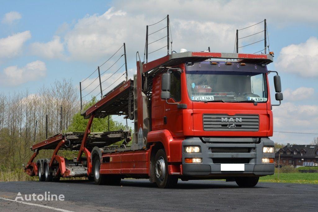 ciężarówka do przewozu samochodów MAN TGA 350 PEGASUS 3