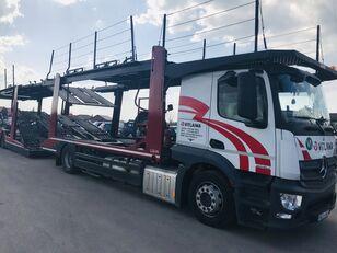 ciężarówka do przewozu samochodów MERCEDES-BENZ Actros 1840 Euro 6 + Lohr CHR + przyczepa do przewozu samochodów