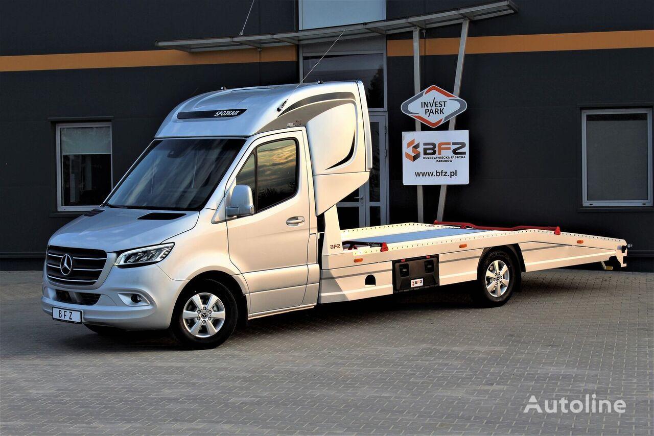 nowa ciężarówka do przewozu samochodów MERCEDES-BENZ Mercedes-Benz Sprinter 319 V6 LUFTFEDERUNG AB WERK Schlafkabine