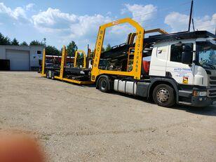 ciężarówka do przewozu samochodów SCANIA Eurolohr + przyczepa do przewozu samochodów