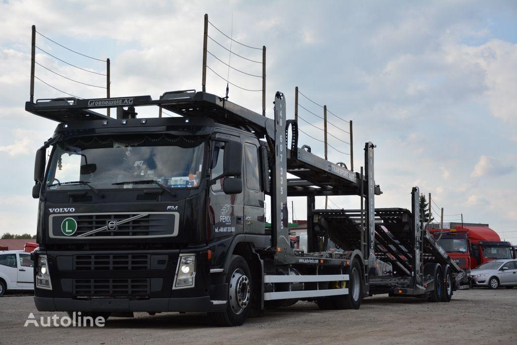ciężarówka do przewozu samochodów VOLVO FM 400 + przyczepa do przewozu samochodów