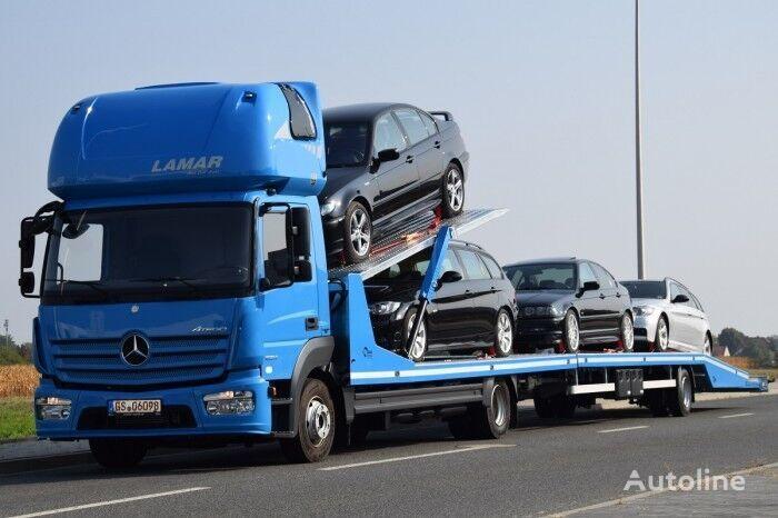nowa ciężarówka do przewozu samochodów ZABUDOWA AUTOLAWETA PIĘTROWA Z PRZYCZEPĄ Tow Truck + Trailer + przyczepa do przewozu samochodów