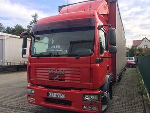 ciężarówka firanka MAN TGL 8.240 + przyczepa firanka