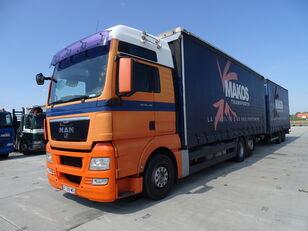 ciężarówka firanka MAN TGX 18.480 / RETARDER / XXL / 13 L / FRENCH CAR / / / + przyczepa firanka