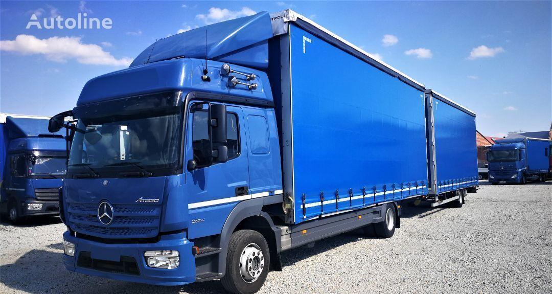 ciężarówka firanka MERCEDES-BENZ ATEGO 1224 zestaw przestrzenny jumbo 770/249/301 + przyczepa firanka