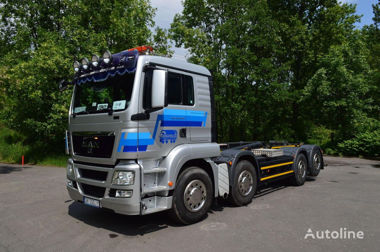 ciężarówka hakowiec MAN TGS 35.440 HAKOWIEC MEILLER RK 20.70