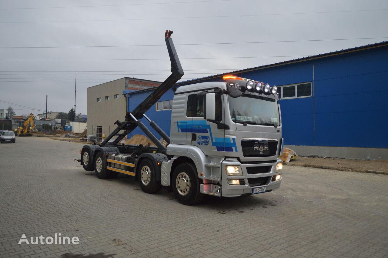 ciężarówka hakowiec MAN TGS 35.440 HAKOWIEC MEILLER RK 20.70 EURO5 EEV 8x2