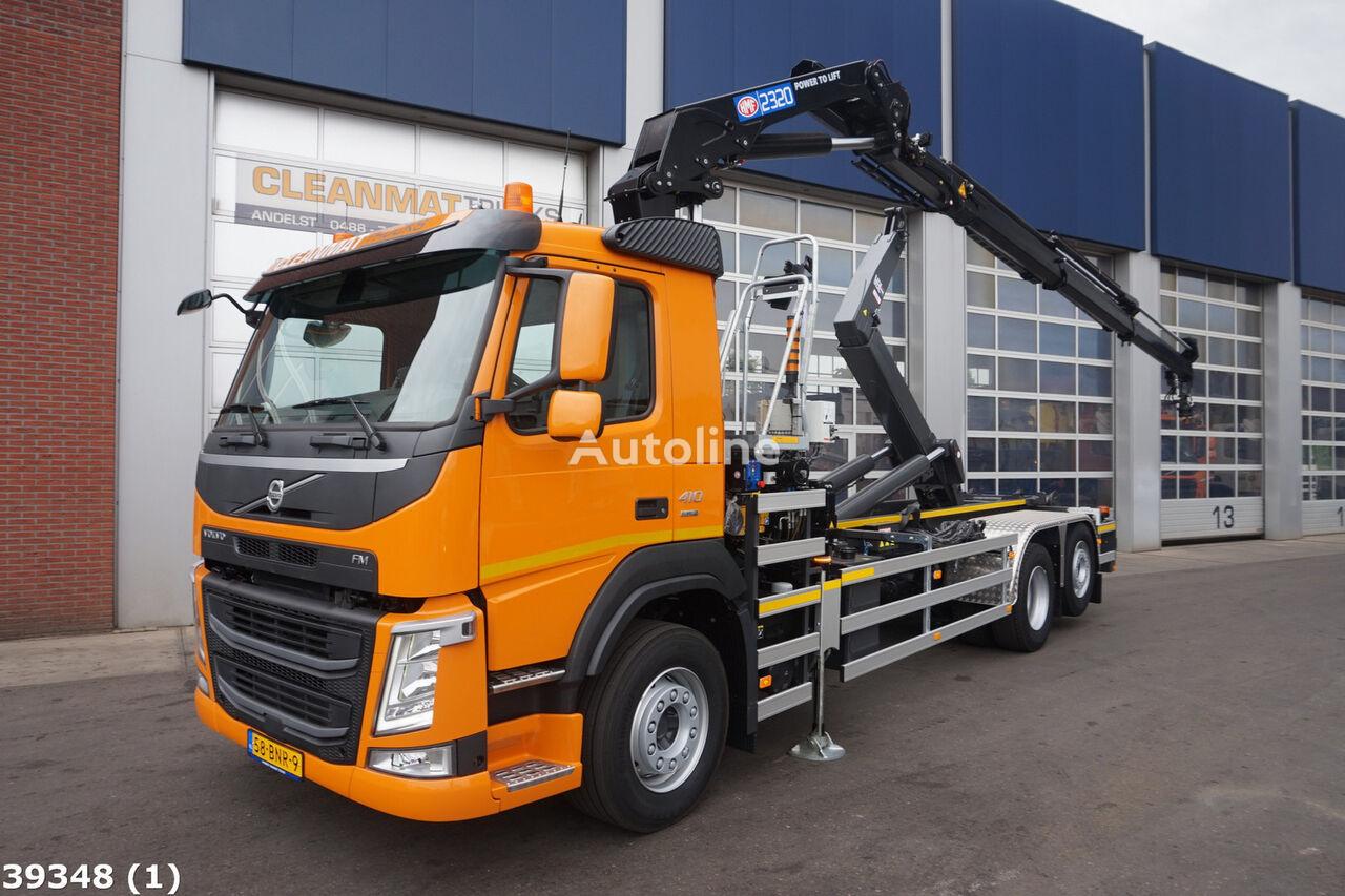ciężarówka hakowiec VOLVO FM 410 Euro 6 HMF 23 ton/meter laadkraan