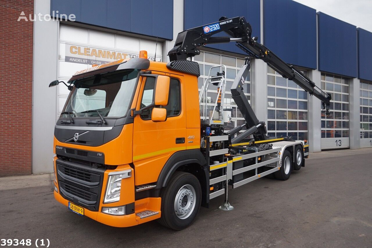 ciężarówka hakowiec VOLVO FM 410 HMF 23 ton/meter laadkraan