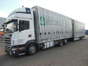 ciężarówka plandeka SCANIA G440 + przyczepa plandeka
