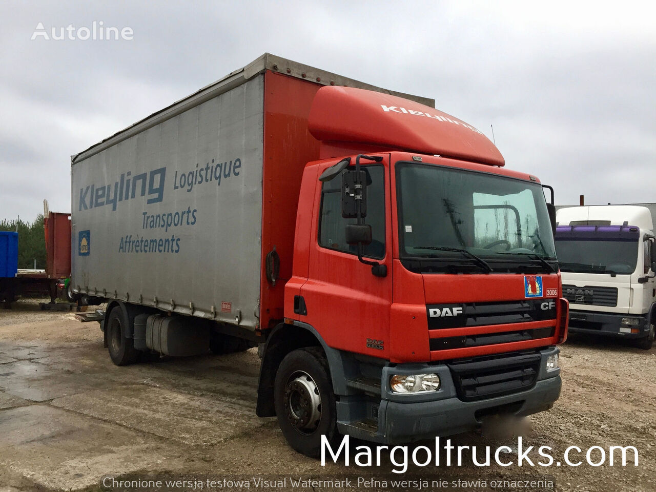 ciężarówka plandeka DAF CF 55