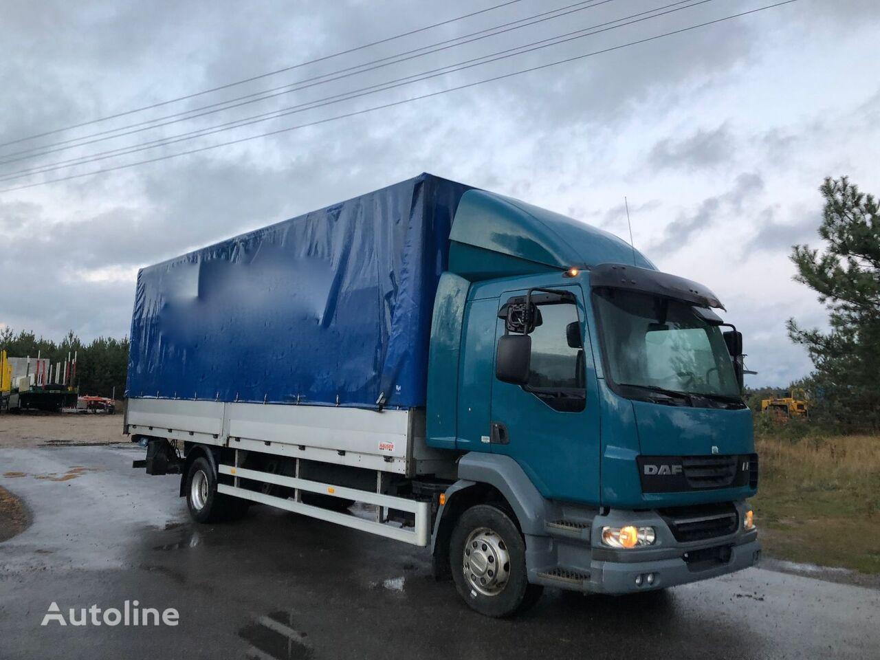 ciężarówka plandeka DAF LF 55.250 KM Euro 5 plandeka z windą Sprowadzony ze Szwajcarii