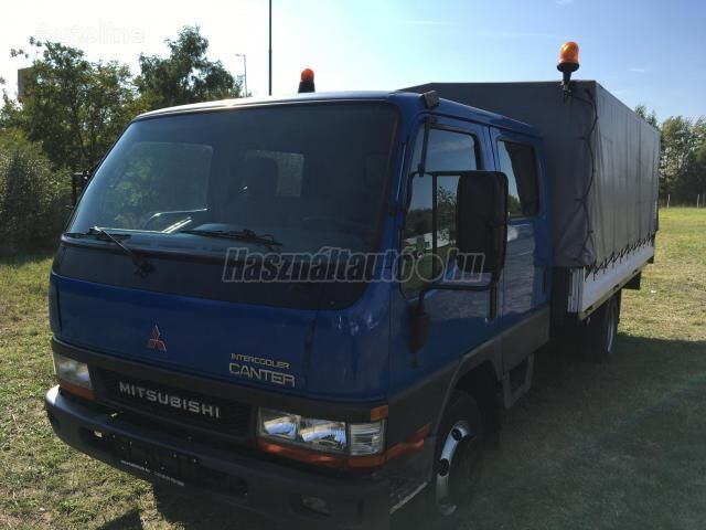 ciężarówka plandeka MITSUBISHI CANTER DOKA P+P 4m-es platóval