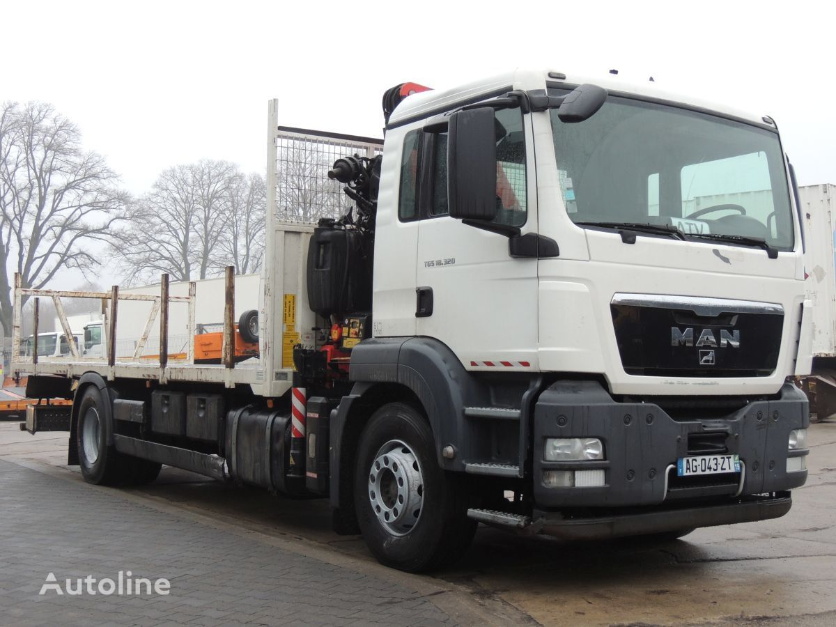 ciężarówka platforma MAN TGS 18.320 platforma + Żuraw Fassi F130