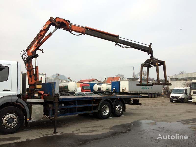 ciężarówka platforma MERCEDES-BENZ Axor 2529 6x2 - Kran ATLAS 120.2E