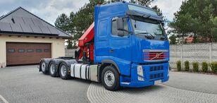 ciężarówka platforma VOLVO FH 500 8x4 + CRAN HMF 5020 16.7 m - 2150 kg