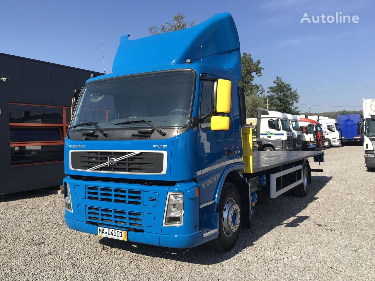 ciężarówka platforma VOLVO FM7 290