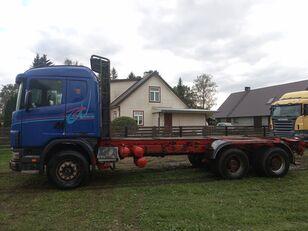 ciężarówka podwozie SCANIA 144 6x4 chassis, full steel, big axle