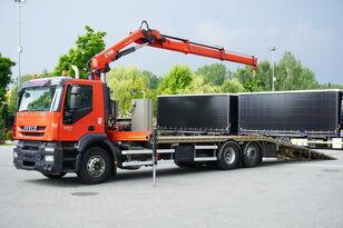 laweta IVECO Stralis 360, EEV, 6x2, 7.8m tow truck, lift axle , CRANE HIAB ma