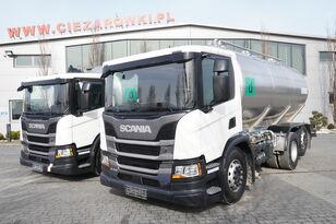 mlekowóz SCANIA P410 , E6 , 6X2 , 20.000km ! ! ! , 2 units , steer/lift axle , 3