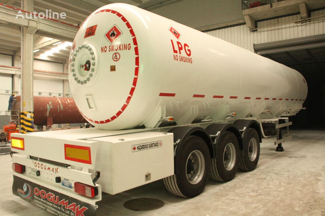 nowa cysterna gazowa DOĞUMAK 45 CBM SEMI TRAILER FOR TRANSPORTATION LIQUIFIED PETROLEUM GAS