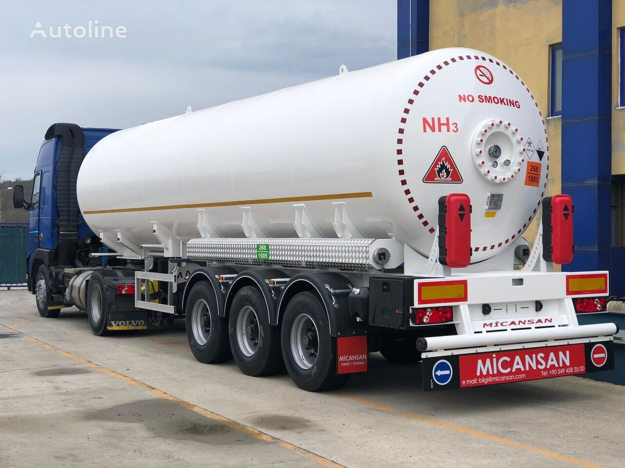nowa cysterna gazowa Micansan 2019 45 m3 excellent product 3 axles 6 tıres